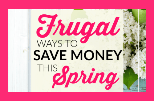 Frugal ways to save money this Spring