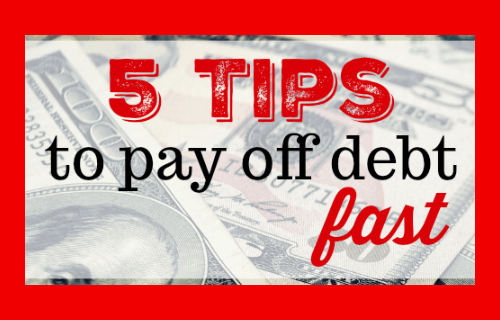 5 Tips to Pay off Debt Fast