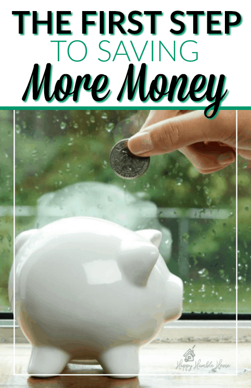 The First Step to Saving More Money - How to set solid goals for your money that will lead you to save so much more!