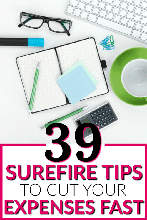 39 Surefire Tips to cut your Expenses Fast - These no-fail solutions of overspending are sure to help you save more money. I've saved THOUSANDS with these simple tips!!