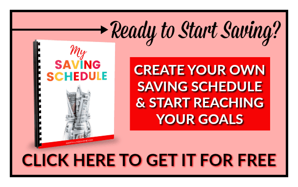 Grab your FREE Saving Schedule here