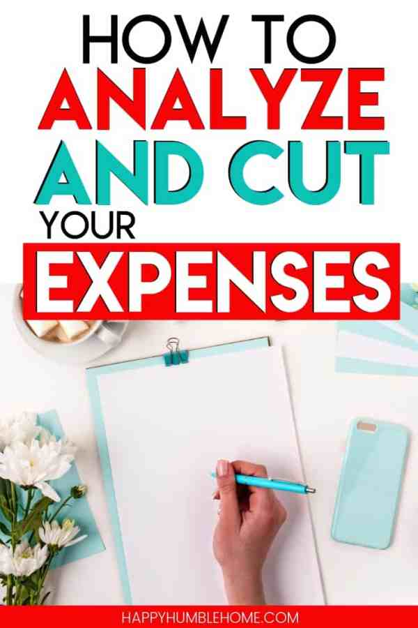 How to Analyze and Cut your Expenses - This simple 3 step process will help you lower your monthly costs and cut your expenses so you can have more money! These easy ideas can help families of any size without any extreme frugal living tactics.