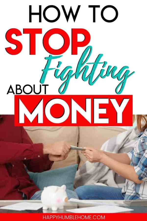 How to Stop Fighting about Money - These 5 simple tips will help you stop the money fights with your spouse. Managing your money together isn't always easy, but these ideas make it so much easier! I wish someone would have told me these things years ago!