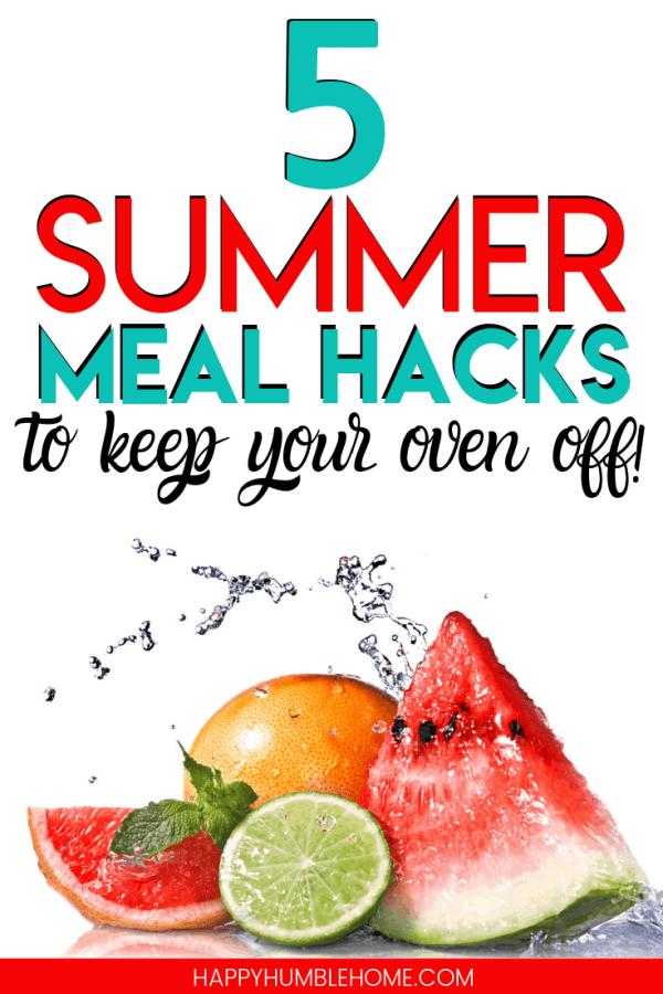 summer meal hacks