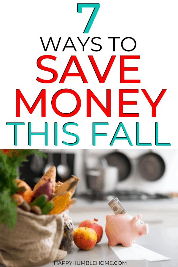 7 Tips to Save Money this Autumn