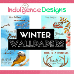 Indulgence Designs #5: Winter Wallpapers From A Magical Setting