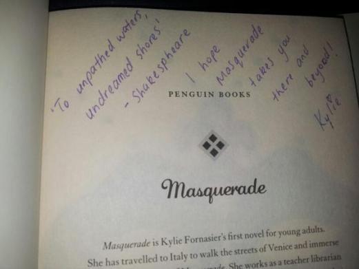 masquerade signed