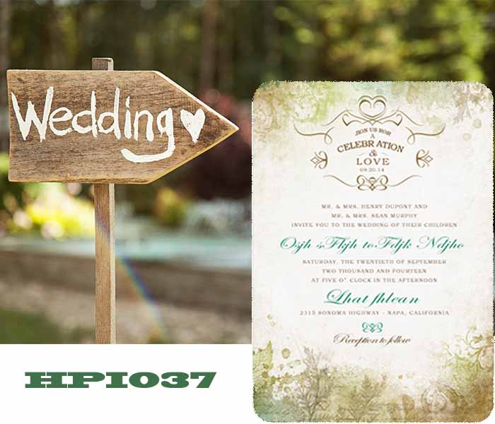 Invite Wedding Guest With Invitations Hpi037