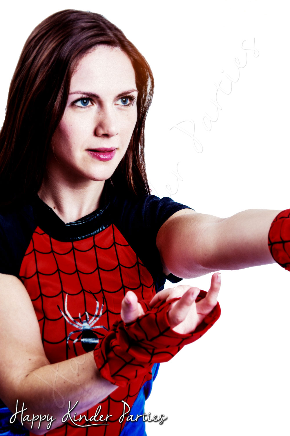 Spider Girl Childrens Party Entertainer Costume