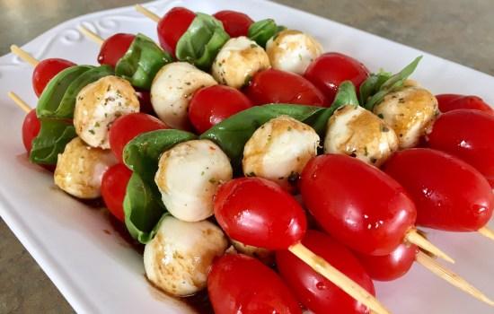 Colorful Caprese Salad Kebabs