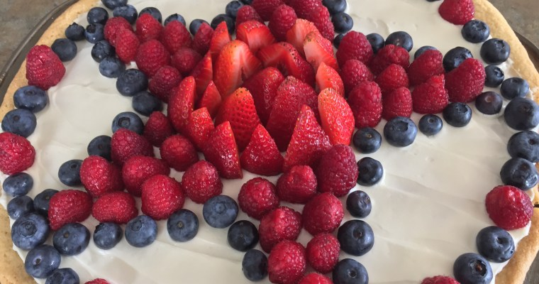 Red, White, and Berry Fruit Pizza