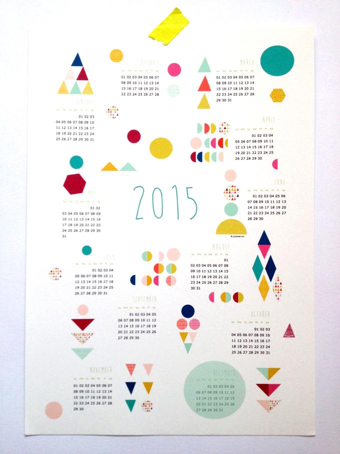 mademoiselleyo Calendar 2015