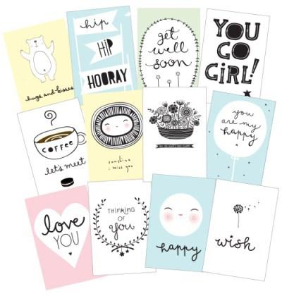 a little lovely company postcards