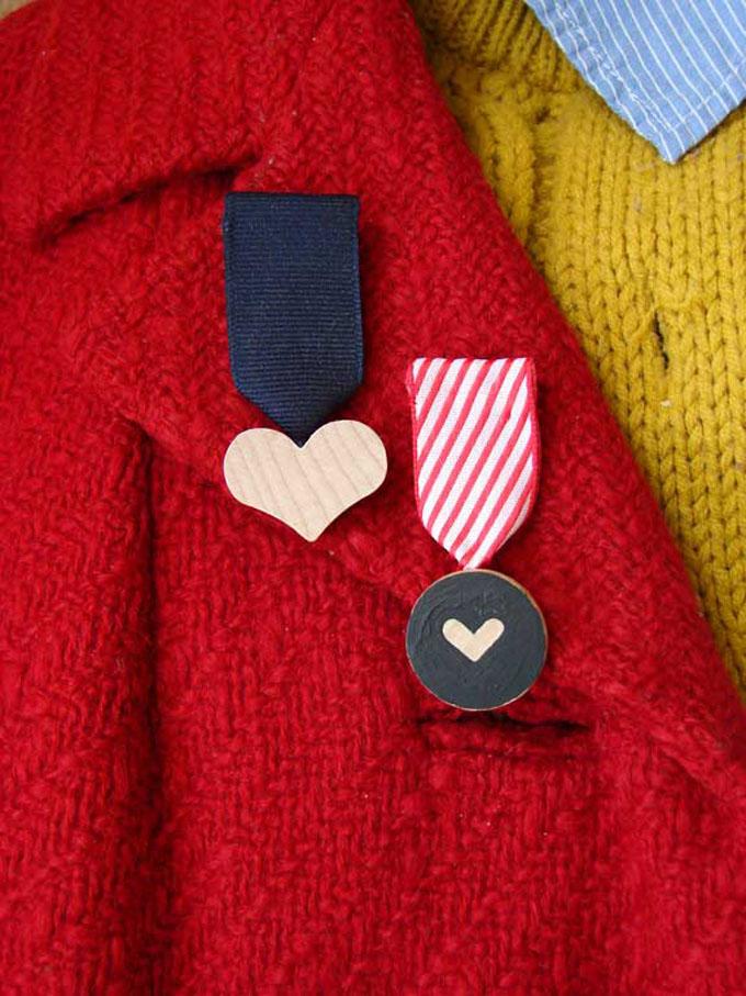 valentine DIY broches