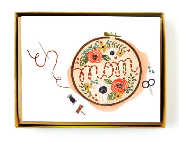 QuillandFox Mom broidery