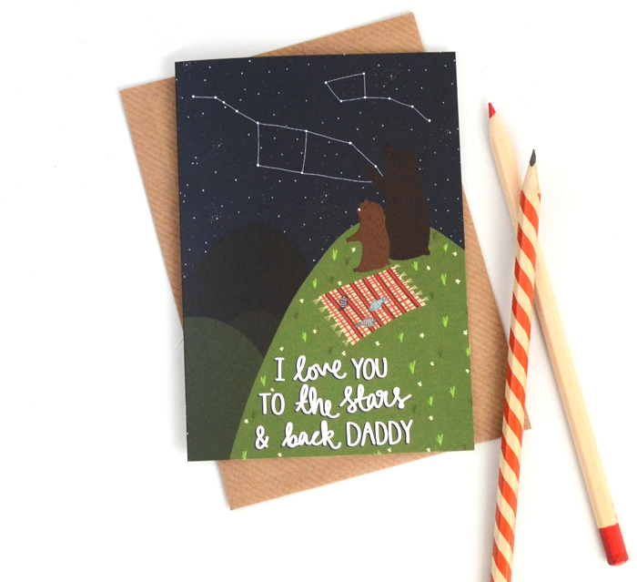 HannahStevensShop fathersday postcard i love you