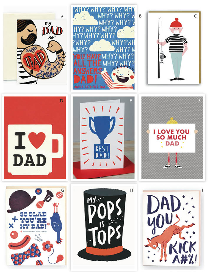 fathersday postcards Red 2