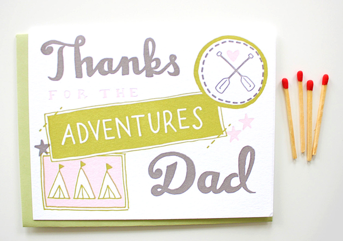 printerettepress fathersday postcards adventures