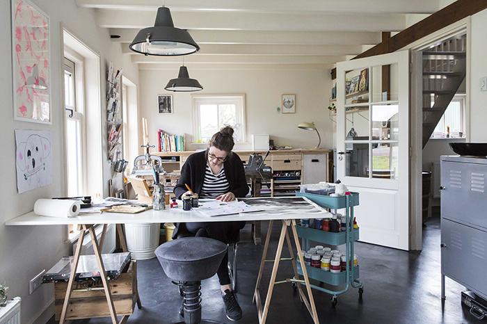 Aan de tekentafel Marieke ten Berge HappyMakersBlog Tekentafel