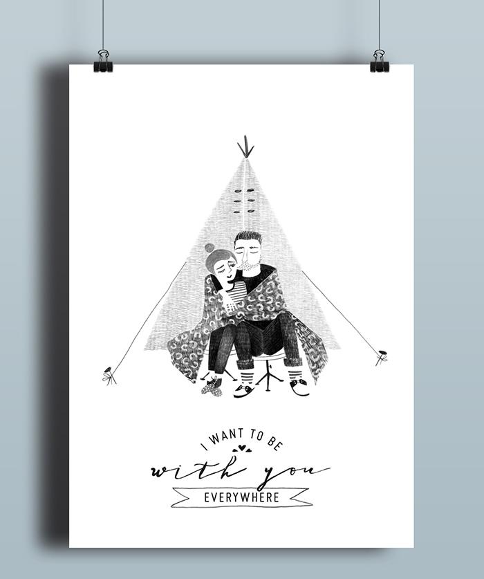 Caroline Cracco Poster Tent illustration HappyMakersBlog