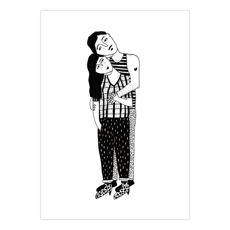 geïllustreerde knuffelkaarten