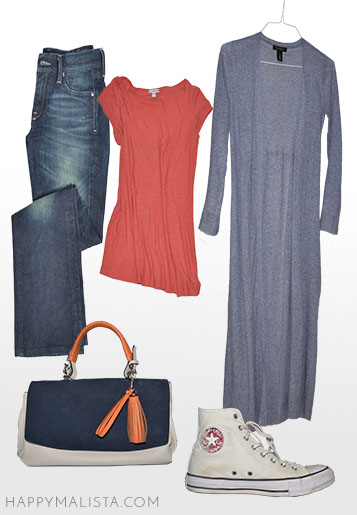 spring wardrobe capsule. chucks and jeans outfit