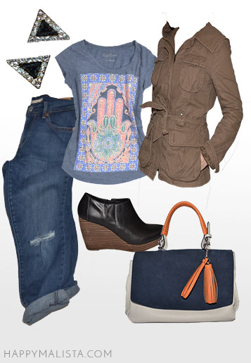 spring wardrobe capsule. casual outfit