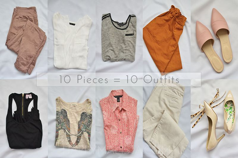 10 pieces 10 outfits challenge