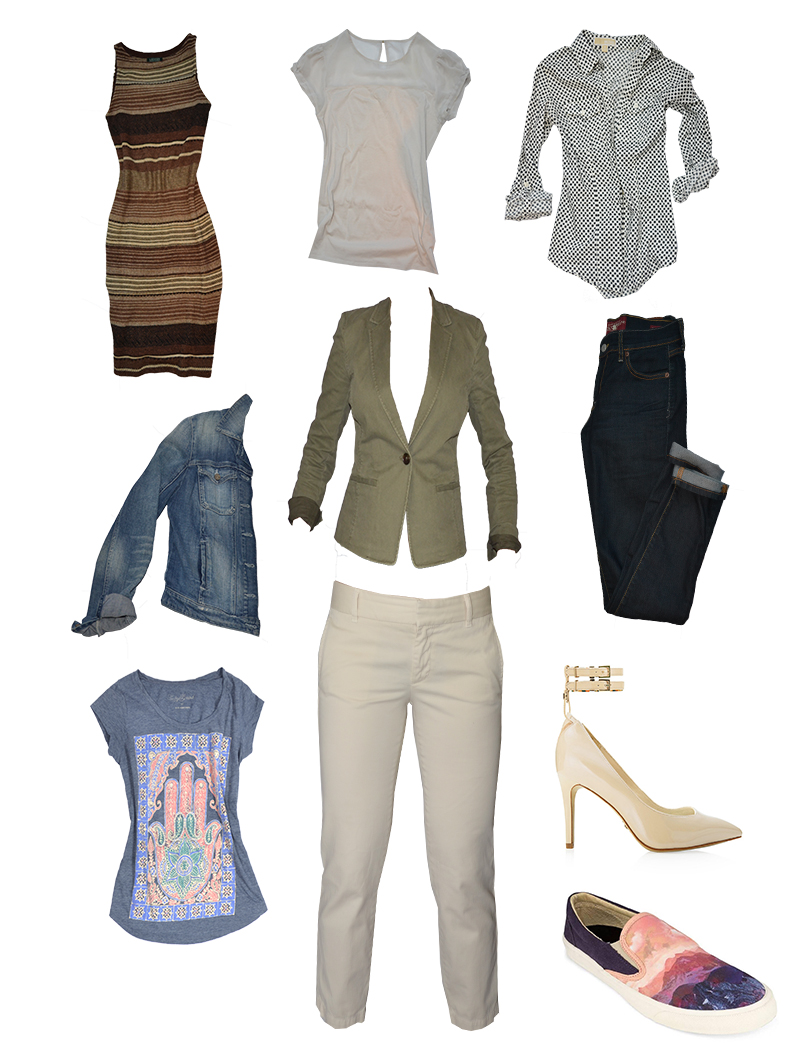 fall capsule wardrobe - 10 pieces 10 outfits