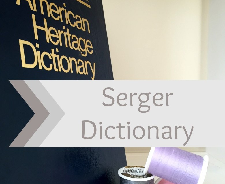 Learn to Serge: Serger Dictionary