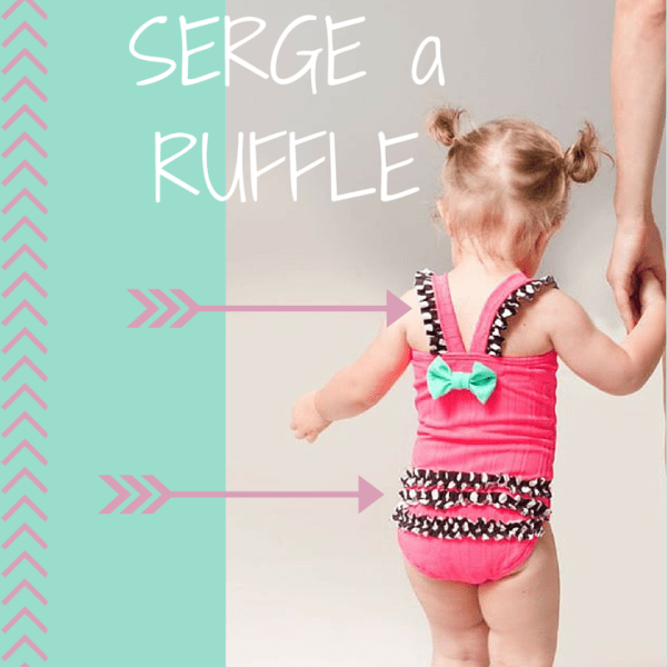 Learn how to serge a ruffle with elastic on your serger!!