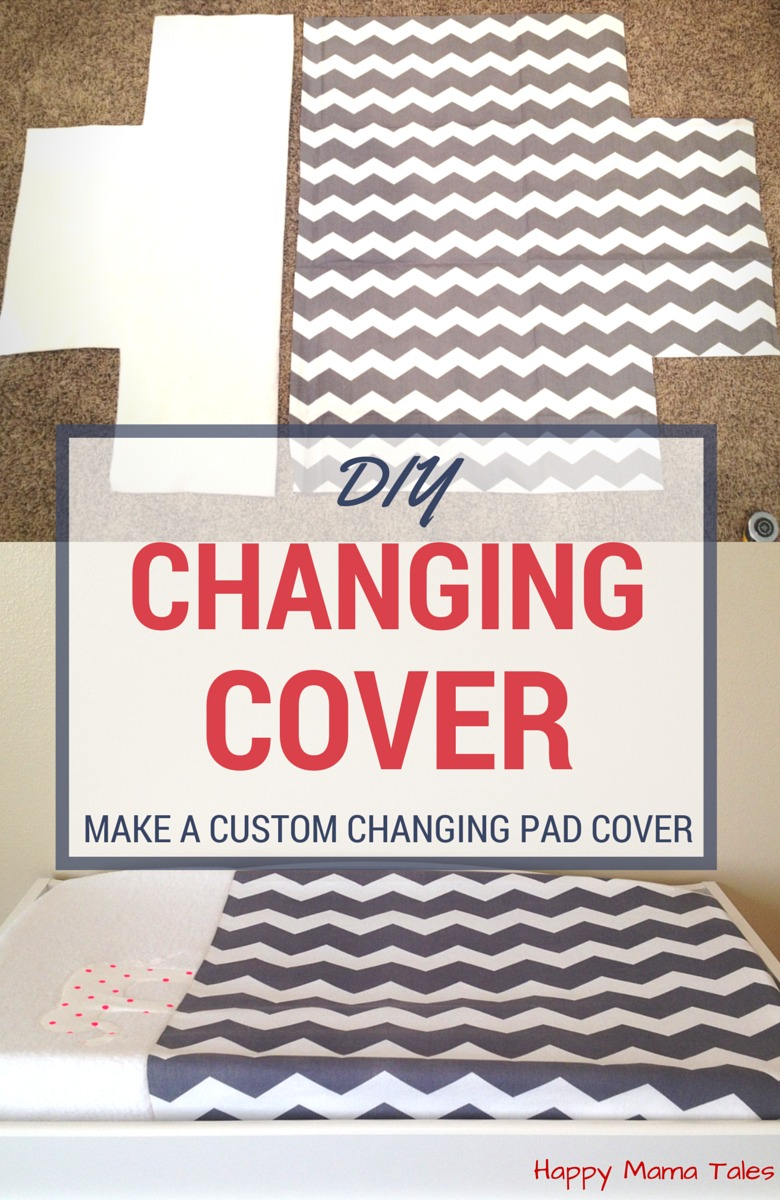 SUPER CUTE! Make your very own CUSTOM DIY Diaper Changing Pad Cover!!