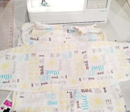 diy baby sleep sack center swaddle panel onto bodice