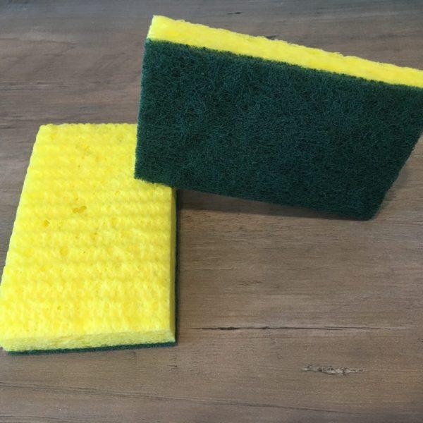 Close up of dual sided sponge