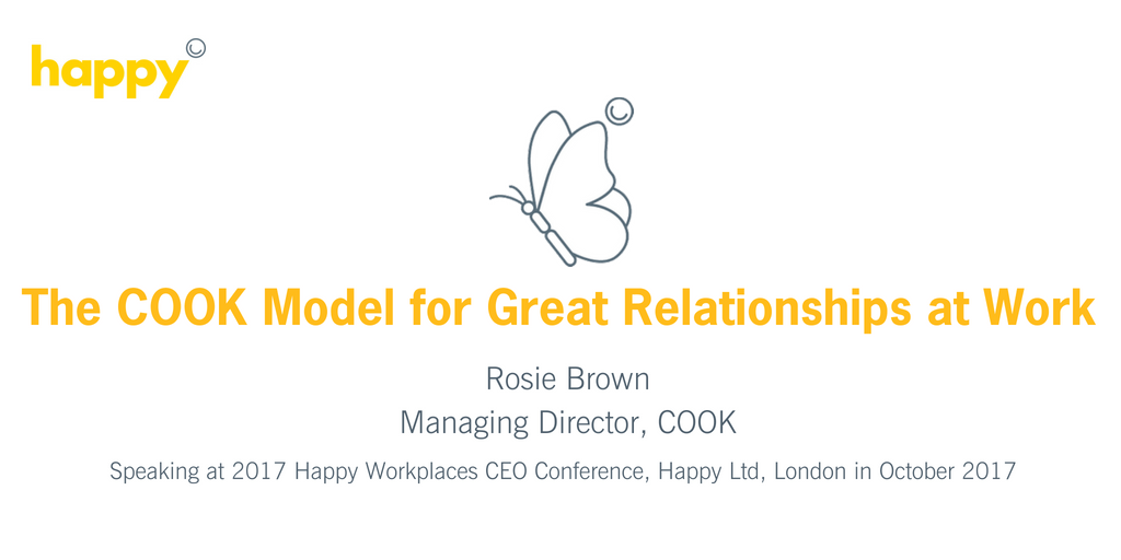 The Cook Model for Great Relationships at Work