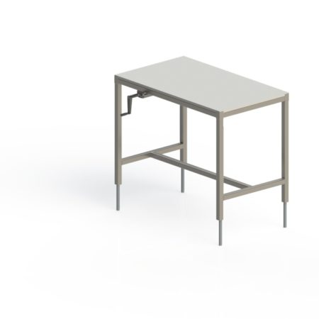table inox de decoupe centrale fixe
