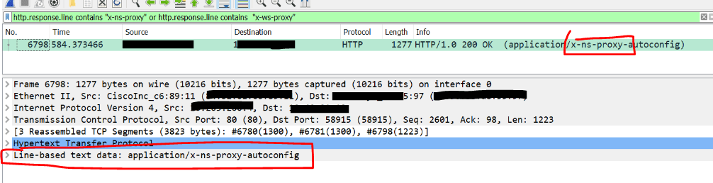 Finding the PAC file – with WireShark – HappyMillFam
