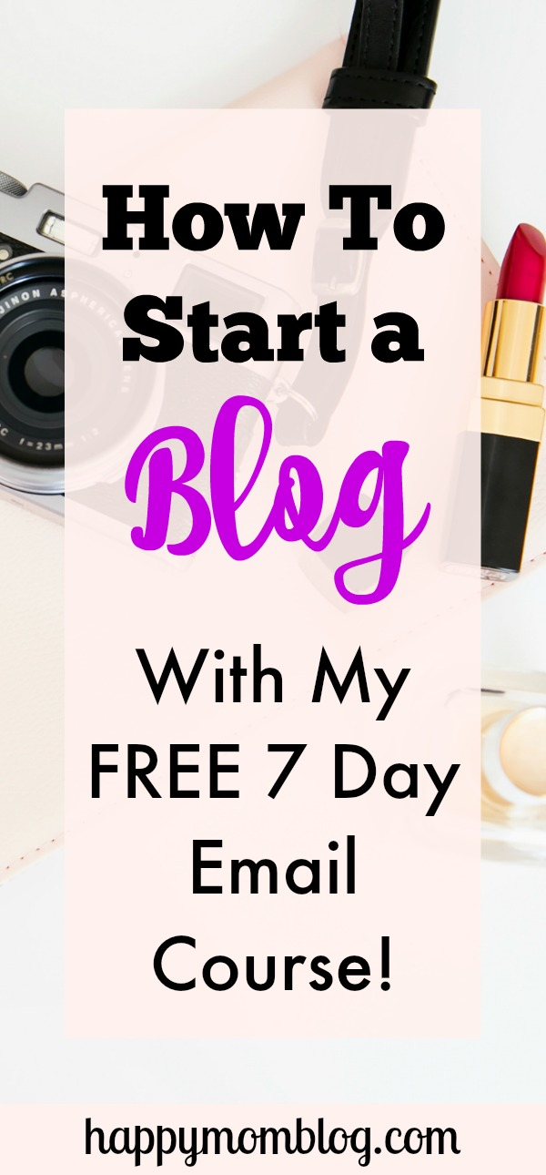Overwhelmed by the thought of starting your own blog? Don't worry, I can help!. My free email course takes all the guesswork out of starting a blog to make the process easy and smooth!