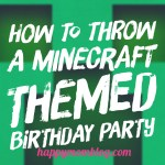 How To Throw A Minecraft Themed Birthday Party
