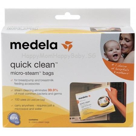 medela quick clean micro steam bags 5each box happy mom happy baby