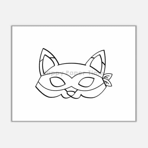 Fox mask printable - Easy woodland paper craft by Happy ...