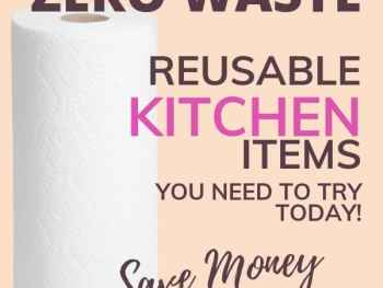 Paper towels on pink background for zero waste products.