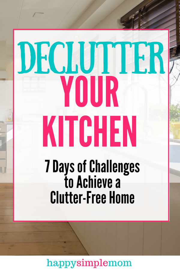 Declutter your kitchen. Obtain clutter-free kitchen counters.