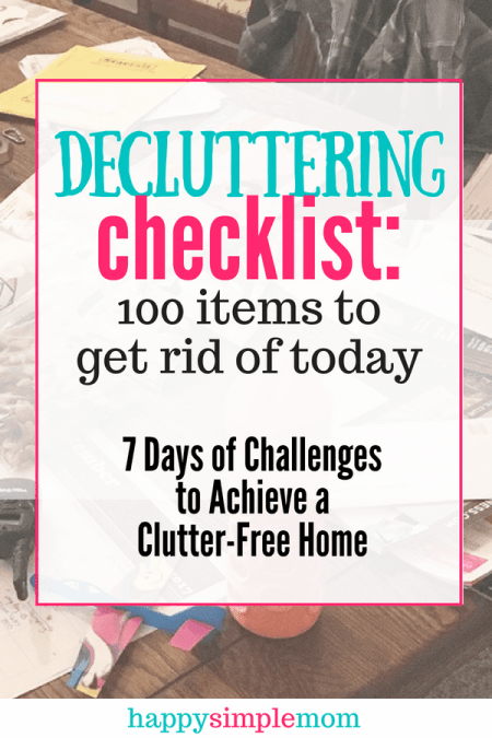 Here is a decluttering checklist to help you get started towards a clutter-free home Pinterest pin.