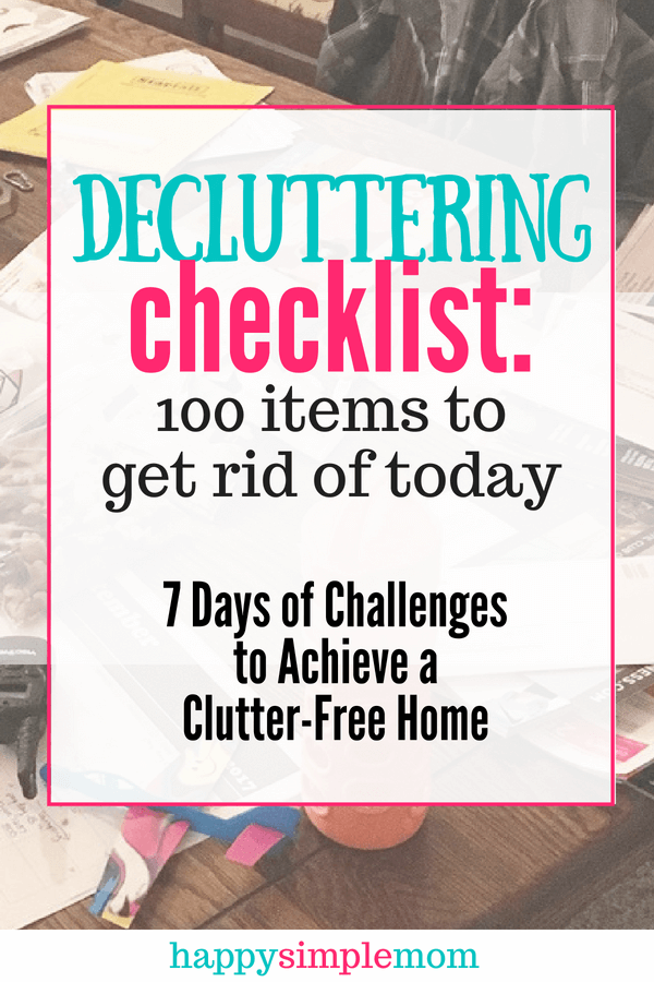 Here is a decluttering checklist to help you get started towards a clutter-free home.