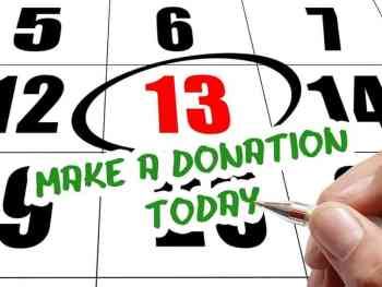 Plan a day for your donations.