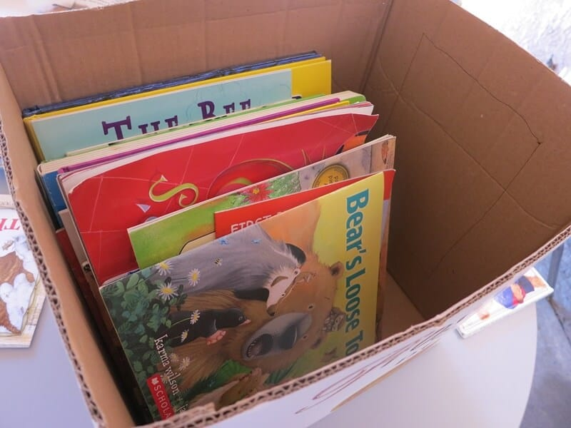 Do regular mini-purges and donate used children's books