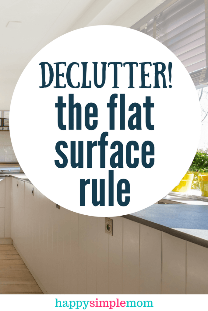 Flat surface clutter rule