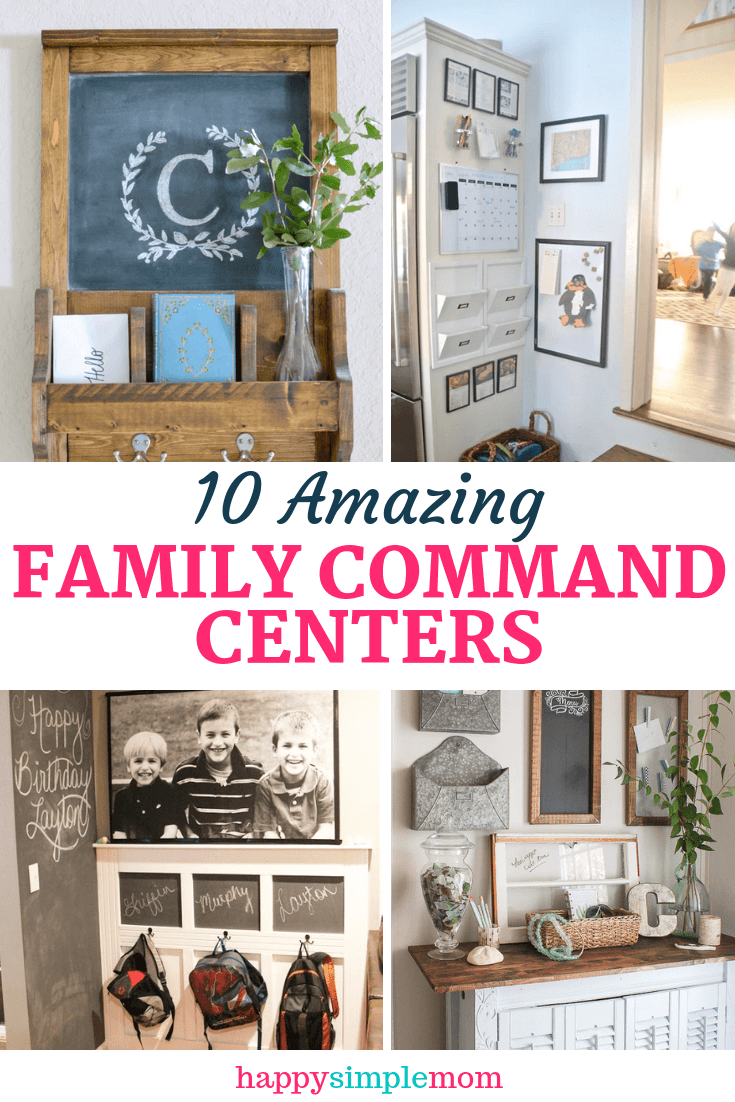 A collage of family command centers