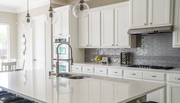 Clear and clean kitchen counter